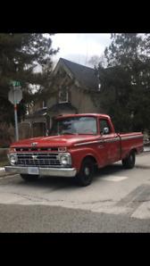 Classic truck 1965 Ford f100 patina restomod truck