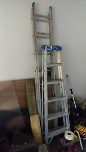 Two ladders - 6 ft step and a 16 ft extension