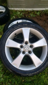 17 inch Alloy wheels and tires.