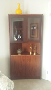 Rosewood curio cabinet for sale