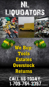 We buy your tools, shed , garage items and more !