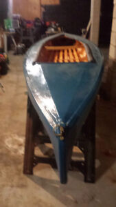 Canoe / kayak 15 foot vintage with wood ribs