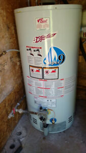 50 US/42 Imperial gallon natural gas hot water heater.