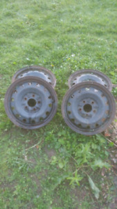 "1 Set of 4, 15"" Steel Rims for Sale"