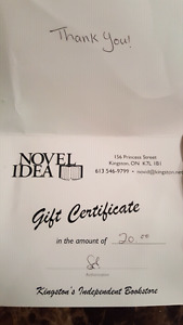 $20 Novel Idea Gift Certificate