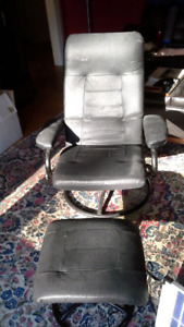 Swivel chair with matching foot stool