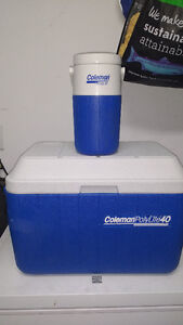Coleman cooler with water cooler