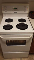 24 inch Frigidaire apartment size stove.