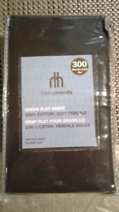 Brand New Hometrends Queen Flat Sheet