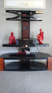 TV stand with mount for flat screen.