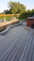 Interlock, retaining walls and landscaping