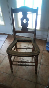 Wooden Cane Chair