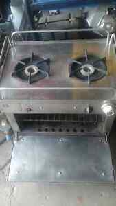 Stainless steel marine propane stove with oven