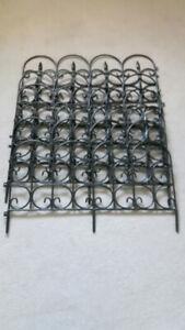 6 Black PVC Garden Fences
