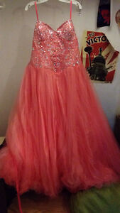 Pink sparkley prom dress