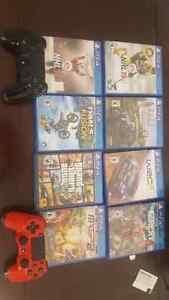Ps4 and 8 games for sale or trade for an Xbox one