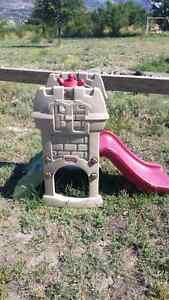 Toddler castle climb & slide