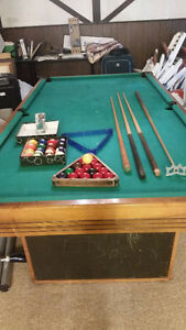 Gendron Pool Table with Cues and Balls