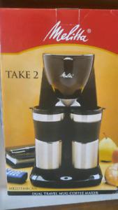 Melitta Take 2 Dual Travel Mug Coffee Maker