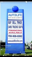 Auto sales manager required for emerging Wested trade lot!