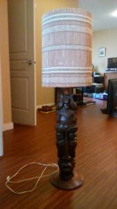 Polynesian styled Tiki lamp