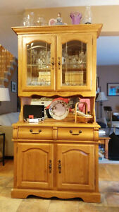 Kitchen Table, 4 Chairs and Small Hutch