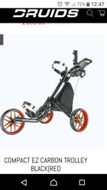 SOLD.... Druids EZ- Fold golf trolley