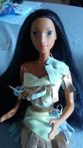 "1995 Disney Pocahontas doll 18"" Mattel supersize barbie"