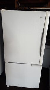 2 white bottom freezer fridges 250.00 each, Delivery available