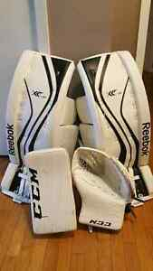 Sr Goalie gear for sale. 34+1 Pads