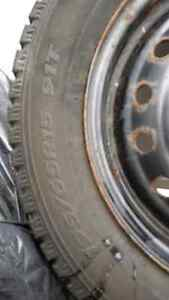 4 Hankook winter tires with rims