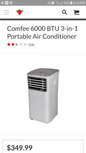 SOLD - New 3 in 1 portable Air Conditioner, fan and dehumidifier
