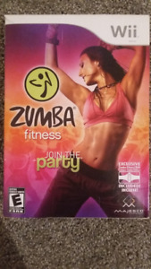 Wii Zumba fitness and belt - new