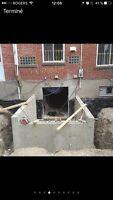 Travaux de béton et construction