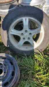 """4 215 /65 r 17"""" studded cooper weather  master"""