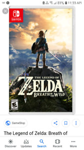 Nintendo switch Legend of zelda breath of the wild and skyrim