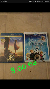 Disney blurays 8.oo ea
