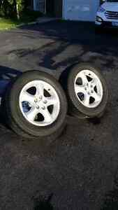 Tires with rims Like new Yes 4 of them