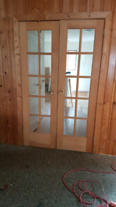 Two sets of French doors