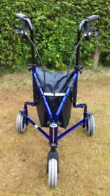 DAYS PATTERSON TRI-WHEEL WALKER WITH SHOPPING BAG