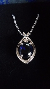 6ct Sapphire Necklace.
