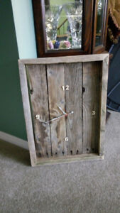 Various One of a Kind Clocks, shelf, candle holders