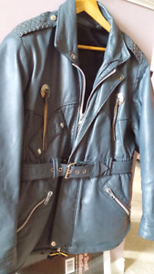 Ladies genuine leather riding jacket and chaps