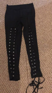 $25 brand new lace up pants never worn