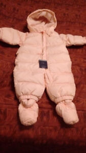 Size 0-6 mths DOWN Filled Baby Gap one piece snowsuit