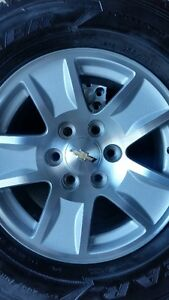 4 2015 CHEVY RIMS WITH NEW GOODYEAR FORTITUDES 265/70/17