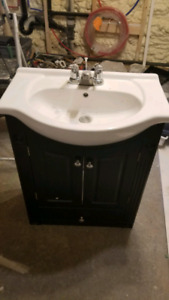 Bathroom sink and base