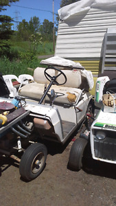 Modified electric golf cart
