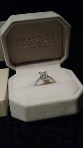 Princess cut engagement ring