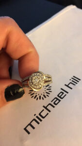 Unique gold and white gold diamond ring for sale by owner